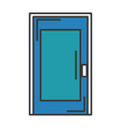 room door isolated icon vector image vector image