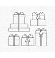 set gifts presents icons vector image