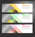 set of horizon abstract colorful display banner vector image