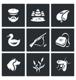 Set of Hunting Icons Hunter nature vector image vector image