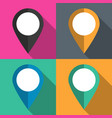 set of pointers to the map on different vector image vector image