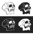set of skulls design template vector image vector image