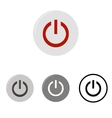 set power buttons vector image