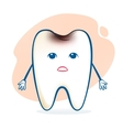 Sick tooth character vector image