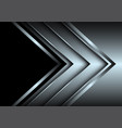 silver arrow layer direction with black blank vector image vector image