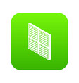 square window frame icon green vector image vector image