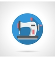 Tailor blog round flat icon vector image
