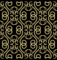 vintage gold embroidery style 3d damask seamless vector image vector image