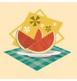 watermelon icon summer sea vacation concept vector image vector image