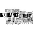 what is in a south florida homeowner s insurance vector image vector image