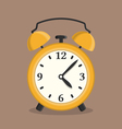Yellow Alarm Clock vector image vector image