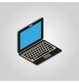 The computer icon PC desktop laptop symbol3D vector image