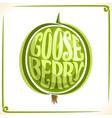 logo for green gooseberry vector image