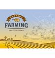 Organic Farming Landscape vector image