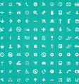 100 airport icons vector image vector image