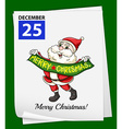 A calendar showing the 25th of December vector image vector image