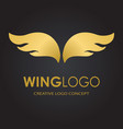 abstract simple wings logo logo icon vector image vector image