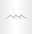 abstract stylyzed mountains icon vector image vector image