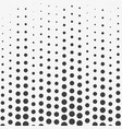 abstract wave halftone dots black dots on white b vector image