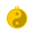 Amulet of yin yang icon vector image vector image