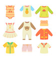 baby clothes poster collection vector image