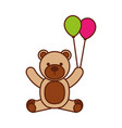 baby shower teddy balloons decoration cute vector image vector image