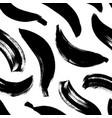 banana brush strokes seamless pattern vector image