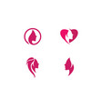 beauty women face silhouette vector image vector image