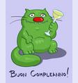 birthday greeting card italian text vector image vector image
