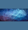 blue horizontal polygonal banner background vector image vector image