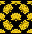 botanical lotus flower seamless pattern vector image