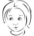 boy black line vector image vector image