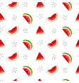 bright seamless pattern with watermelon slices vector image