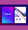 brochure template with trend gradient vector image vector image