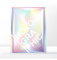 bubble wrap mailer bag packaging holographic vector image vector image