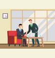 business people shaking hands reached agreement vector image vector image
