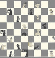 chess pieces on board communicate with humor vector image