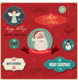 christmas labels elements vector image vector image