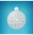 Christmas Silver Ball with Snowflake vector image vector image
