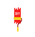 color paint roller like diy icon vector image vector image