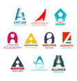 company name letter a abstract identity vector image vector image