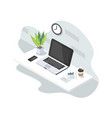 computer laptop and gadget isolated vector image