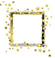 decorative frame with golden confetti and vector image vector image