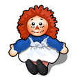 fabric toy in form a man with orange hair vector image vector image