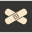 Flat in black and white mobile application vector image vector image