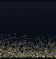gold glitter particles on transparent background vector image vector image