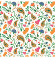 hand drawn seamless floral pattern vector image vector image