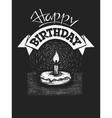 happy birthday on chalkboard vector image vector image
