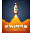 happy new year rocket vector image