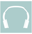 headphones the white color icon vector image vector image